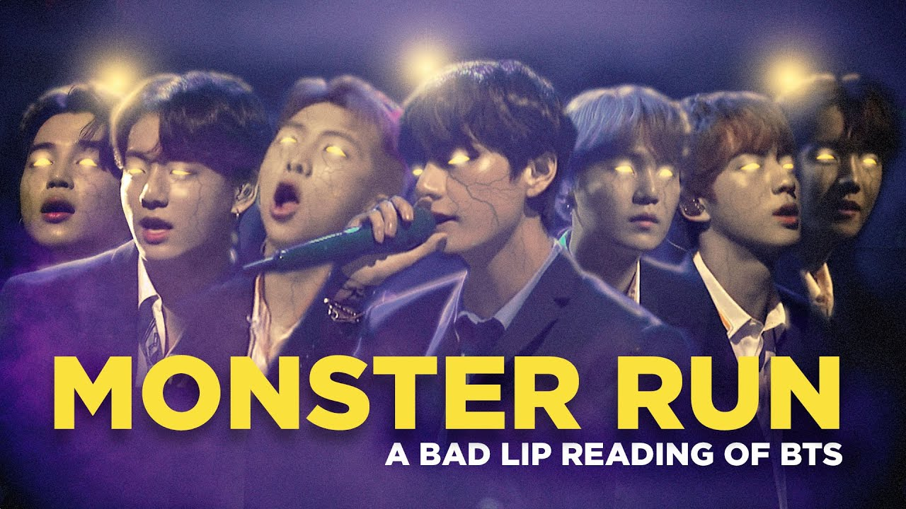 """MONSTER RUN"" — A Bad Lip Reading of BTS"