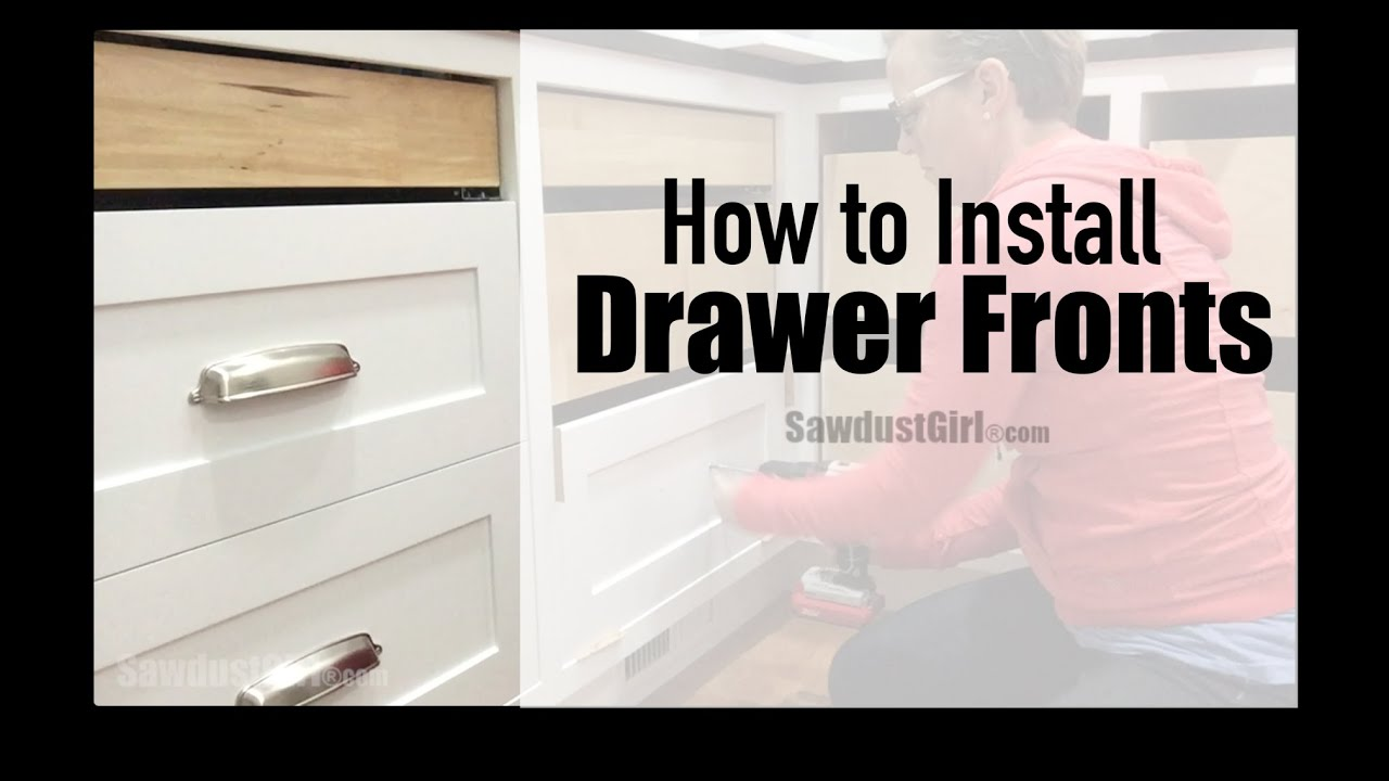 How to Install a New Cabinet drawer Front photo