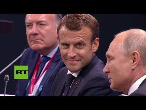 """""""Tengo que desilusionarle…"""": Putin reta a Macron sobre las inversiones de Francia [SUB]"""