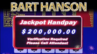 Bart Hanson Wins $200,000 Video Poker Jackpot!