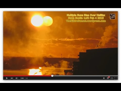 Multiple Suns Rise Over Halifax Nova Scotia 1of2 Feb 4 2015