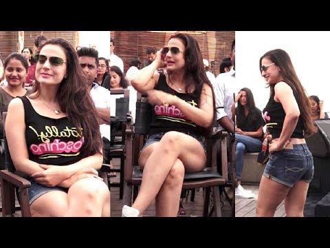 Amisha Patel HOT In Shorts And Tank Top At Smile Please Movie Launch thumbnail
