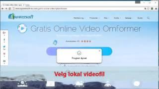Hvordan bruke Apowersoft Free Online Video Converter