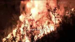 Brush Fire Threatens Homes / Rubidoux   RAW FOOTAGE