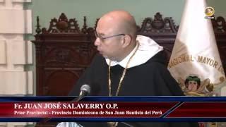 Tema: Medalla de Honor Sanmarquina en el Grado de Gran Cruz a la Orden de Predicadores