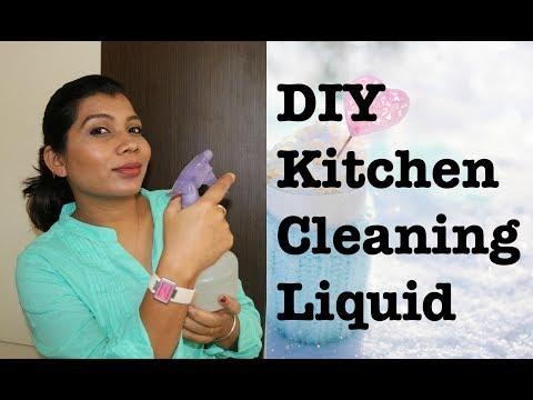 DIY Kitchen Cleaning Liquid   Homemade Kitchen Cleaner