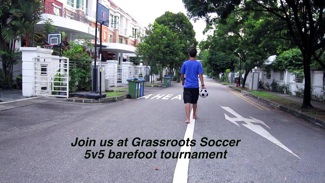 Grassroots Soccer 5v5 Barefoot Tournament Promo
