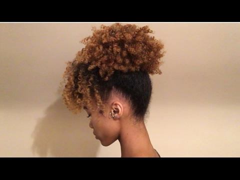 1 Minute Natural Hairstyle Pineapple Updo Youtube