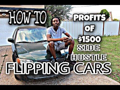 BEST WAY TO FLIP CARS (CAR BUSINESS) SIDE HUSTLE MAKING $1500