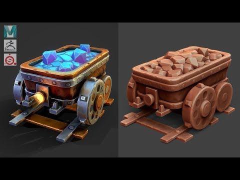Autodesk Maya 2019, Zbrush, Substance Painter - Stylized Minecart