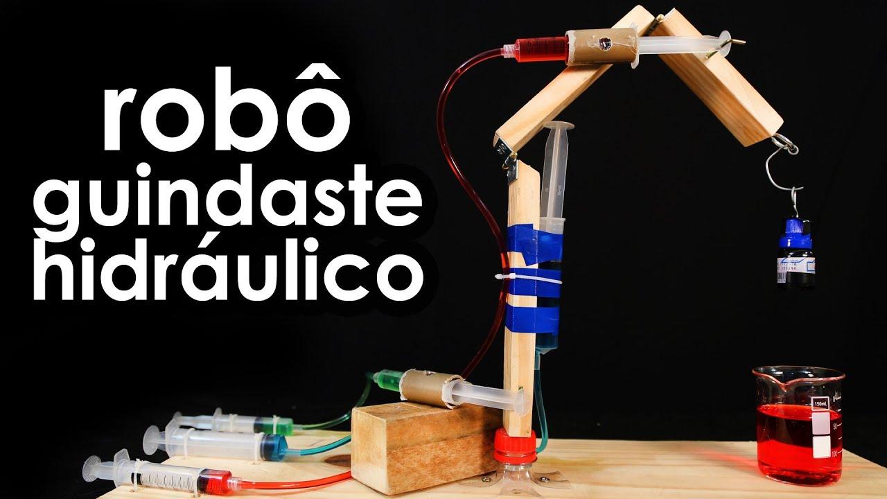 Conhecido Como fazer um robô guindaste hidráulico (experiência de hidráulica  NY31