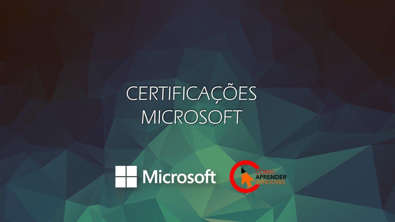 Download Webinar Certificações Microsoft