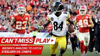 Antonio Brown is a Catch-of-the-Year Nominee w/ this Grab! | Can't-Miss Play | NFL Wk 6 Highlights