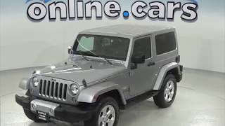 oA97307PT Used 2015 Jeep Wrangler Sahara 4WD Silver Test Drive, Review, For Sale
