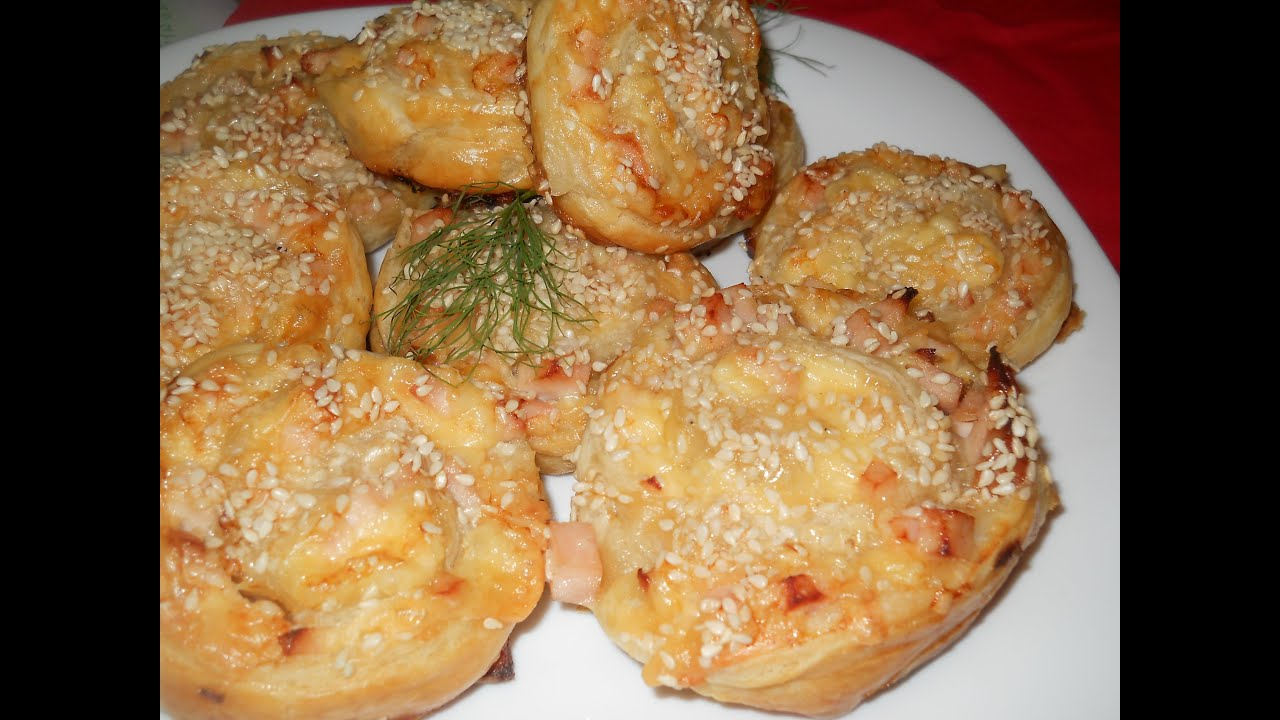 Пирожки из готового слоеного теста с сыром рецепт