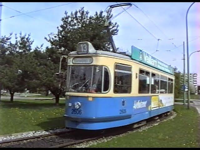 Mit dem M-Wagen 1993 auf der Linie 13 vom Hasenbergl zum Scheidplatz