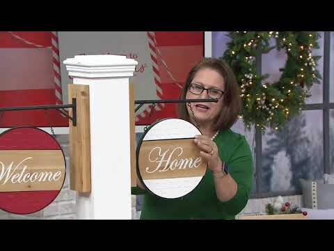 Plow & Hearth Wooden Sign with Interchangeable Messages on QVC