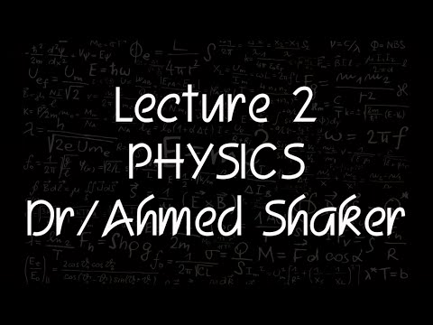 Physics Dr.Ahmed Shaker Lecture 2