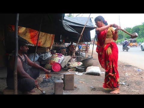 knives Making | Hard Working women making knife on road side in india | Hand Made Knife
