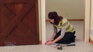 How to install a Rolling Barn Door Flat Rail System