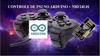 Controle de PS2 no arduino com o NRF24L01+