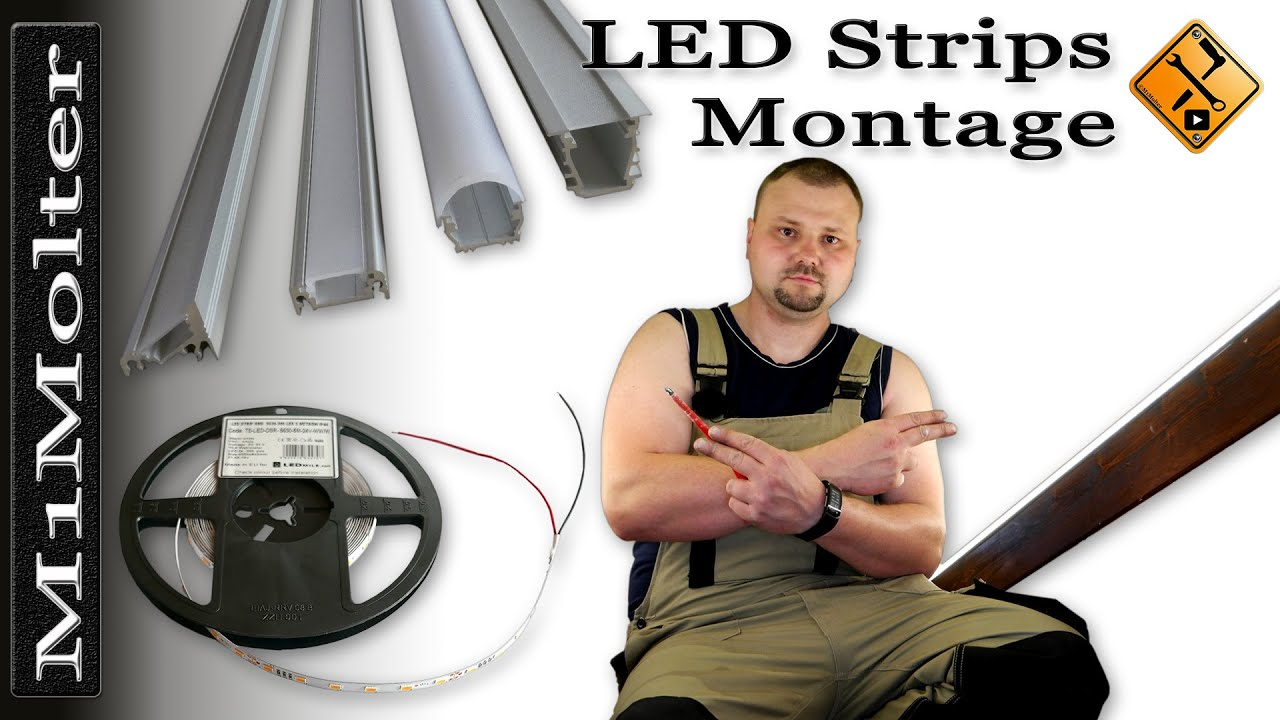 led leisten stripes installation montage von m1molter youtube. Black Bedroom Furniture Sets. Home Design Ideas