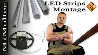 LED Leisten & Stripes Installation Montage von M1Molter