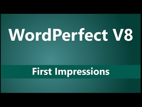 Corel WordPerfect V8 First Impressions | Differences vs Microsoft Word and LibreOffice