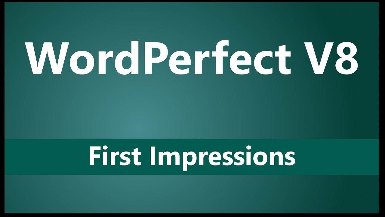 Corel wordperfect v8 first impressions differences vs microsoft corel wordperfect v8 first impressions differences vs microsoft word and libreoffice publicscrutiny Gallery