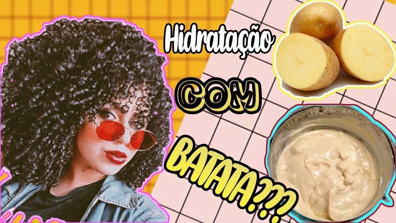 Agua De Batata Para Escurecer O Cabelo super hidratação de batata! ativa o crescimento, reconstrução e brilho para  os cabelos.