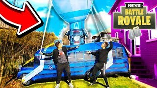 REAL LIFE WORKING FORTNITE BATTLE BUS! (With UnspeakableGaming & 09SharkBoy)