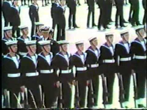 HMS Raliegh Passing Out Parade Aug 1983
