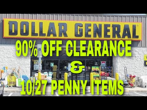 DOLLAR GENERAL 10/27 PENNY ITEMS (UPC&VISUALS)& 90% CLEARANCE