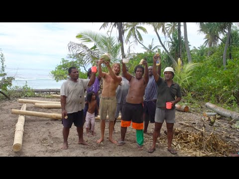 Traditional Kiribati Local House Building Ceremony - 4K VLOG 164