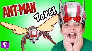 Ant-Man Helmet Surprises! Marvel Wasp + Optimus Prime HobbyKidsTV