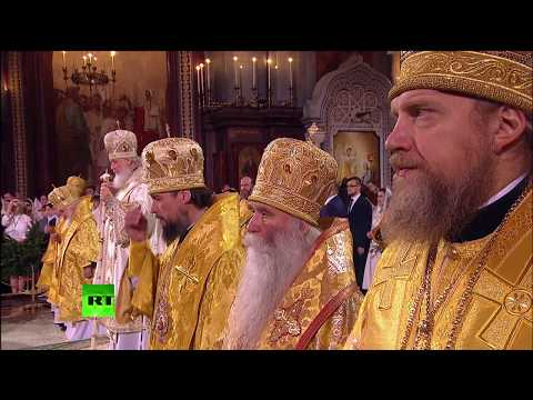 Orthodox Christmas mass in Moscow