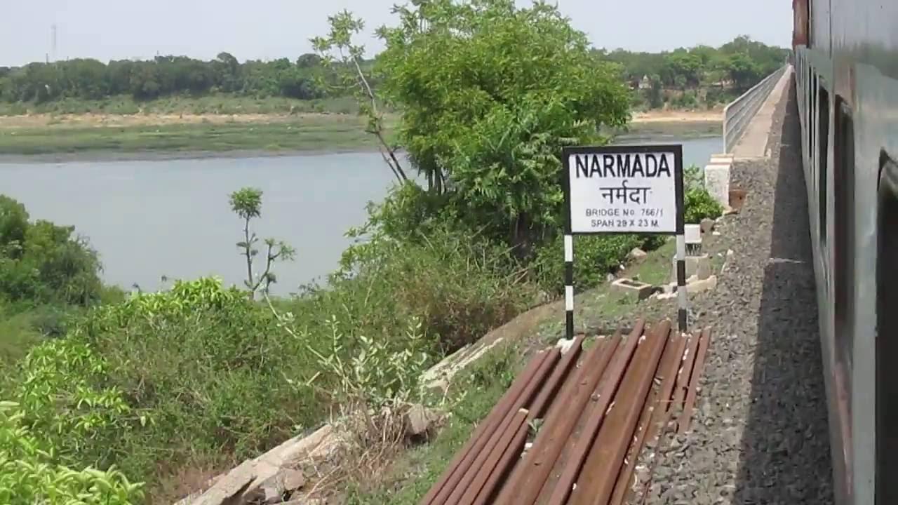 Narmada River Bridge and Hoshangabad Railway station