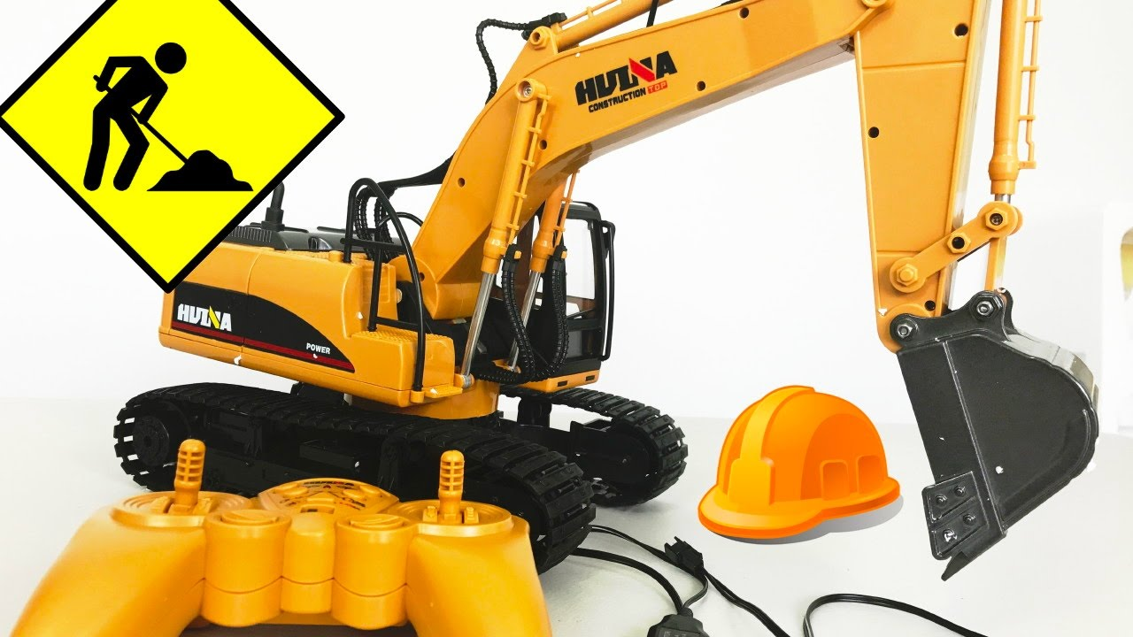 Unboxing - Huina Excavator RC Remote Control Simulator Construction Kids Toy