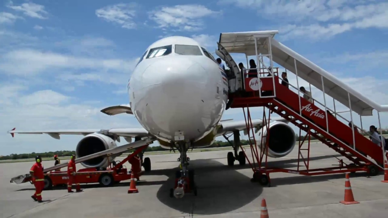 Airasia Udon Thani Bangkok Flight Experience Youtube Big Poin Point Air Asia