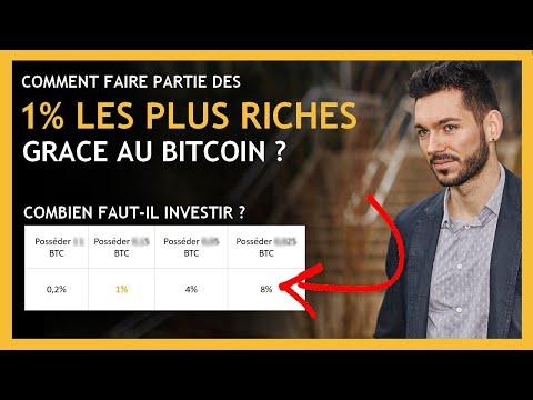 Bitcoin : Comment Faire Partie Des 1%, Combien Investir Dans Bitcoin Pour Devenir Riche En Bitcoin ?