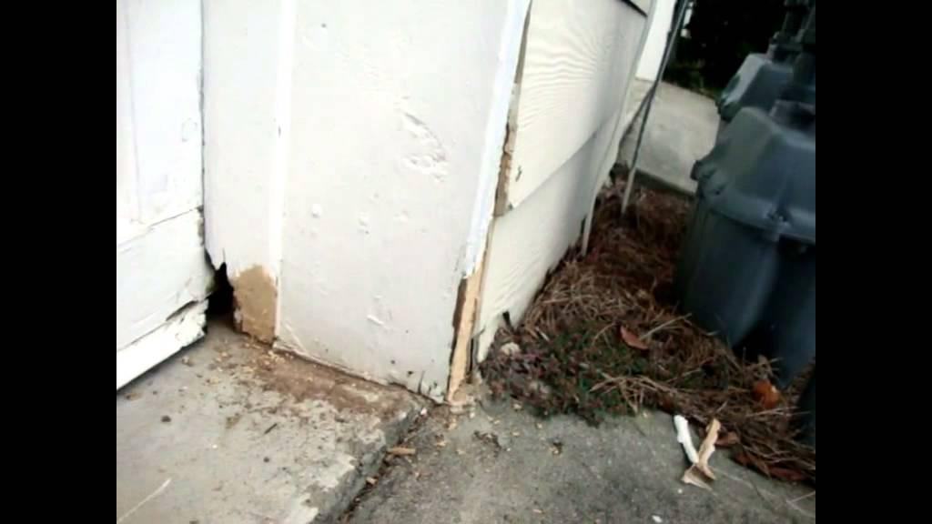 Cheap DIY Repair Wood Garage Door - YouTube