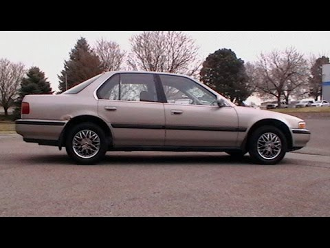 1991 honda accord lx test drive youtube. Black Bedroom Furniture Sets. Home Design Ideas