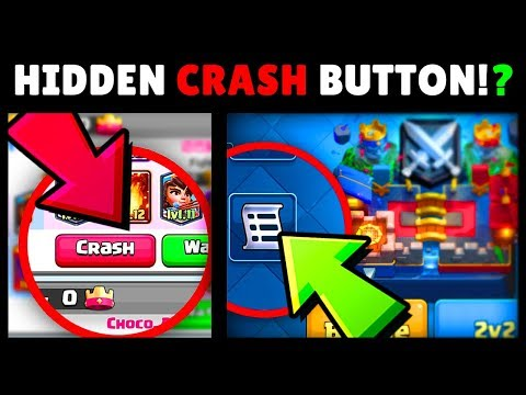 Hidden BUTTON To CRASH The GAME!! Clash Royale Mythbusters! Episode #6