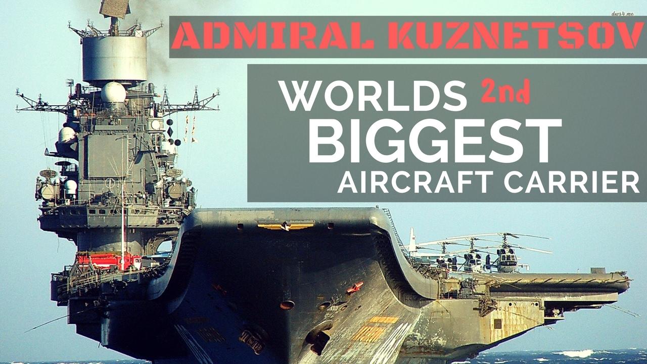 Admiral Kuznetsov, o porta-aviões da Marinha Russa