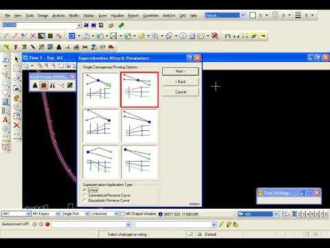 Mx Road Design V8i 08 Rule Based Superelevation Youtube