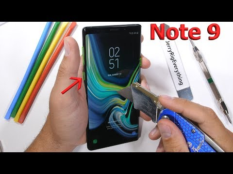 Samsung Note 9 Durability Test! - Bixby Is Not Secure...