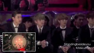 Big Bang & EXO's Reactions to Troublemaker & INFINITE's Performance @ 2013 MAMA