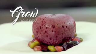 [RECIPE Les vergers Boiron] Molded and frozen black cherry and pomegranate air