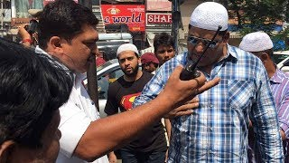 Traffic Police Harrasment on Day 1 of Ramadan at Pathergatti | Syed Sohail Quadri Protest