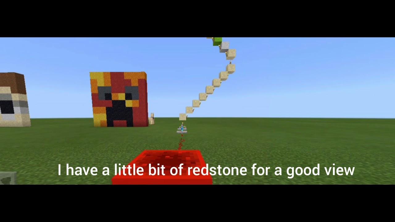 Crainer Minecraft skin head statue - YouTube